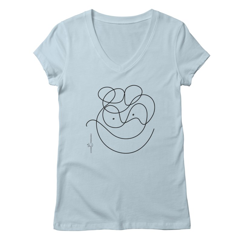 OneLine Smile Women's V-Neck by Good Morning Smile