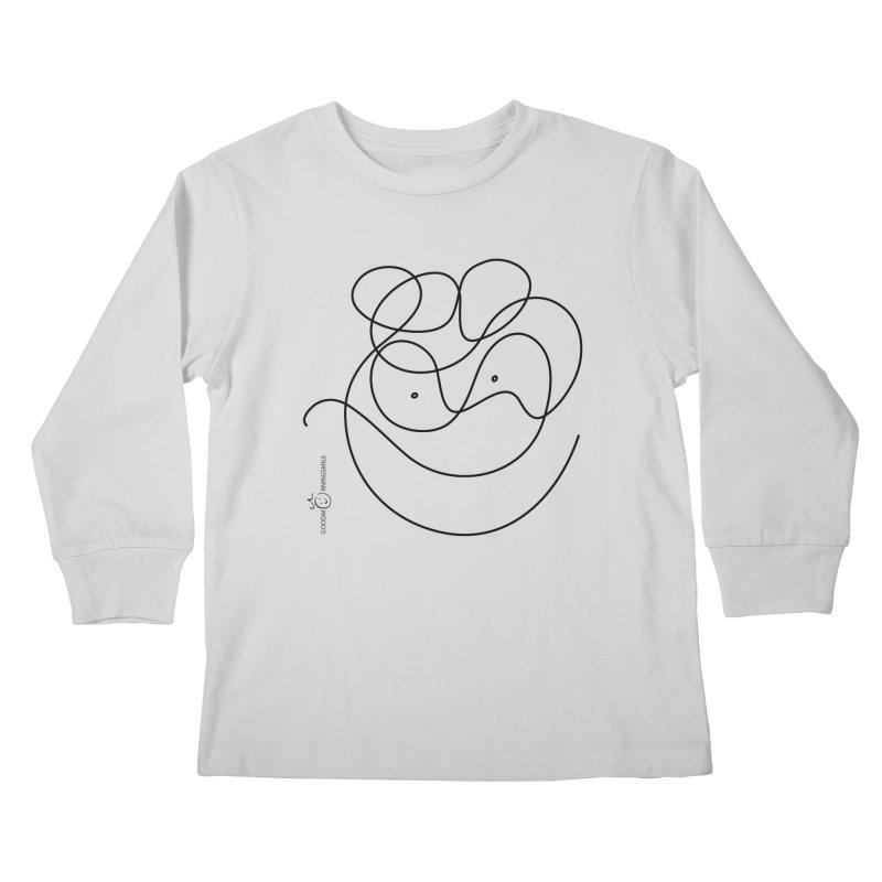 OneLine Smile Kids Longsleeve T-Shirt by Good Morning Smile