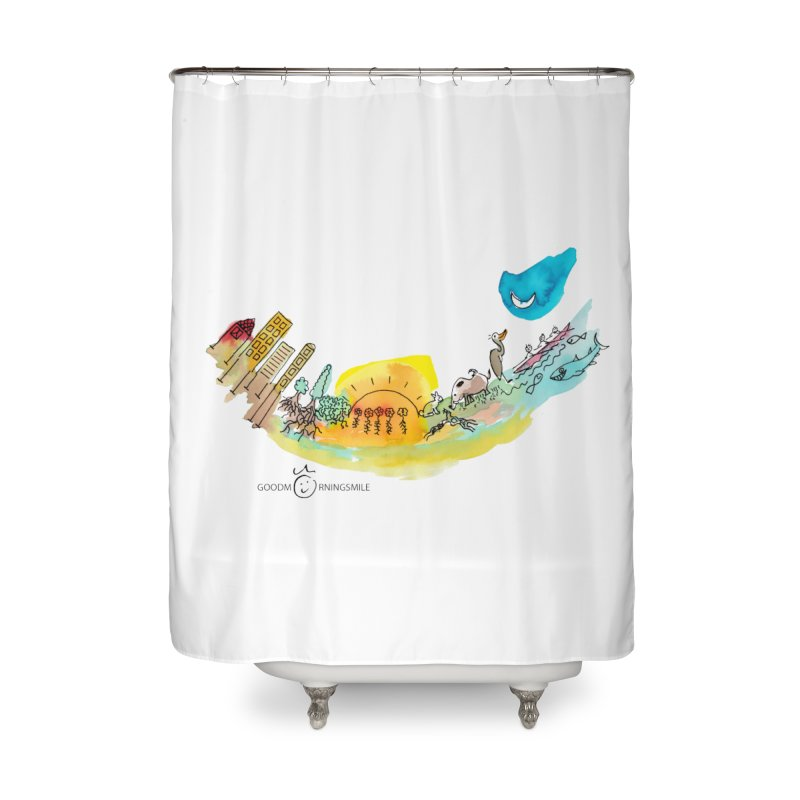 Urban Ecology Smile Home Shower Curtain by Good Morning Smile