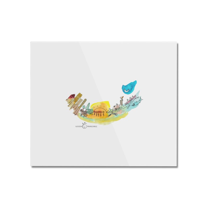 Urban Ecology Smile Home Mounted Acrylic Print by Good Morning Smile