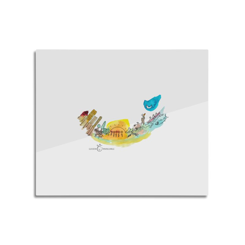 Urban Ecology Smile Home Mounted Aluminum Print by Good Morning Smile