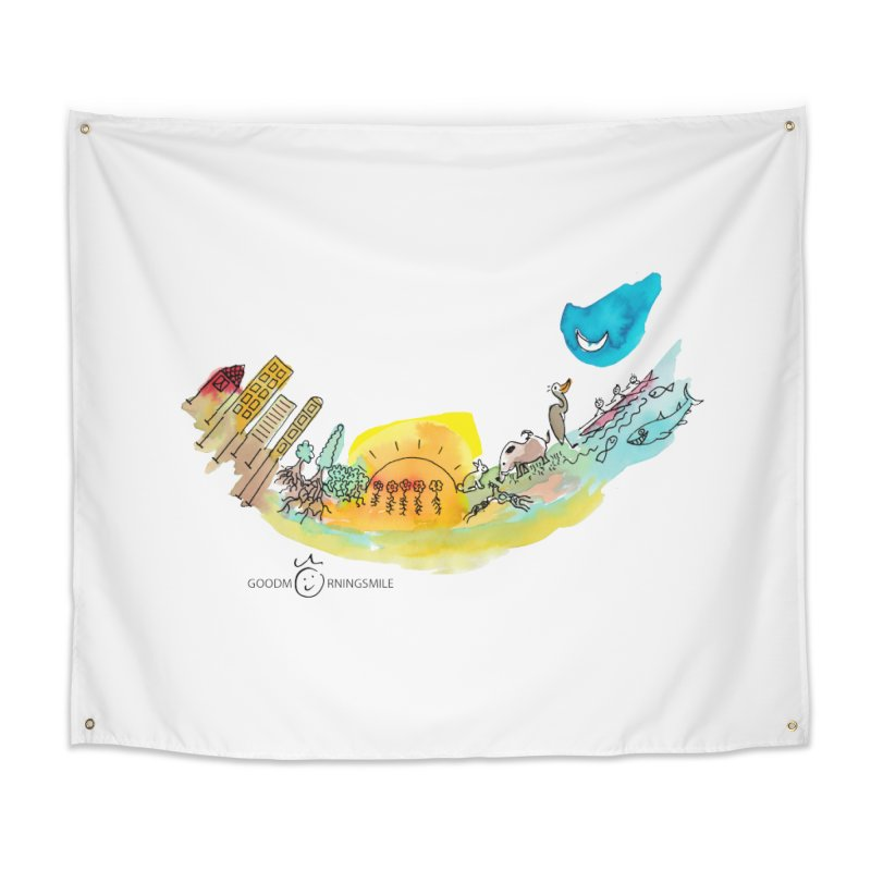 Urban Ecology Smile Home Tapestry by Good Morning Smile