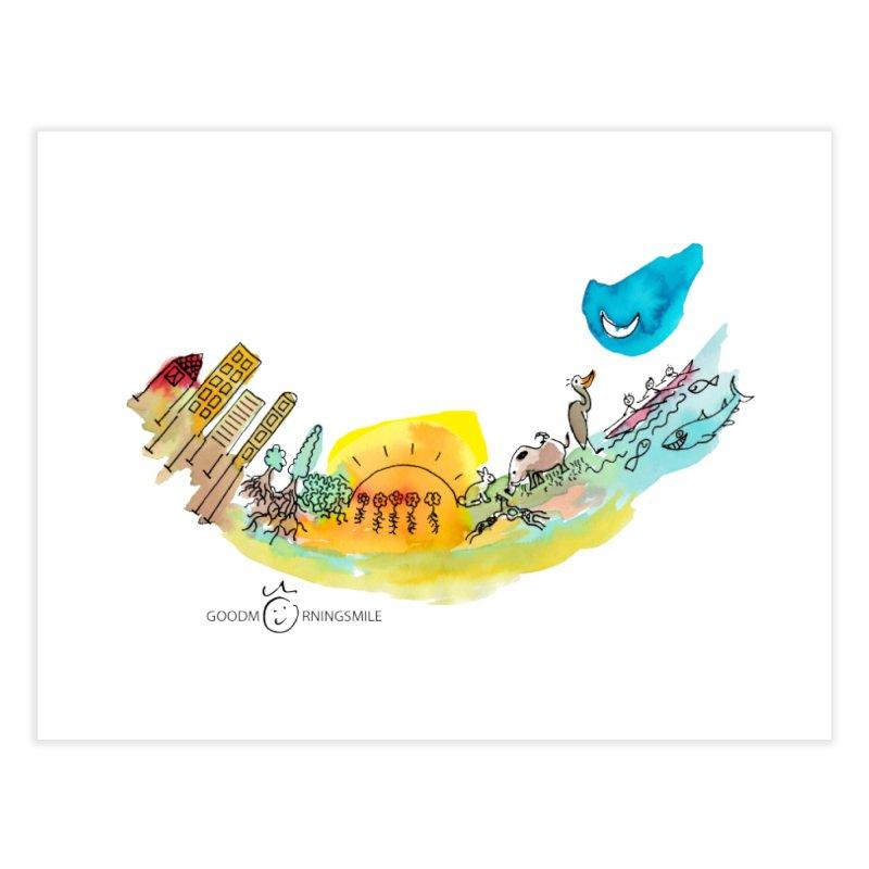 Urban Ecology Smile Home Fine Art Print by Good Morning Smile
