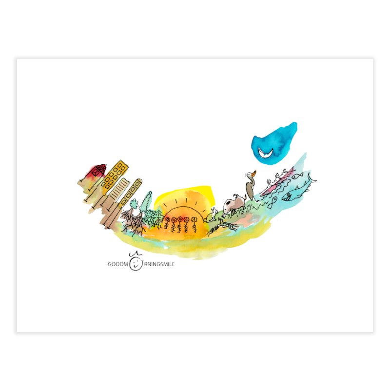 Urban Ecology Smile Home Fine Art Print by Good Morning Smile