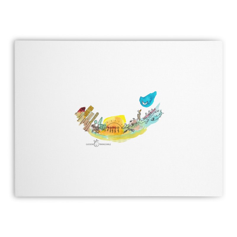 Urban Ecology Smile Home Stretched Canvas by Good Morning Smile