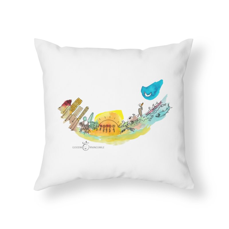 Urban Ecology Smile Home Throw Pillow by Good Morning Smile