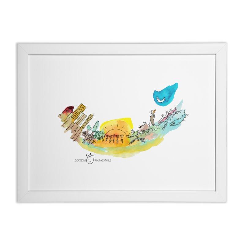 Urban Ecology Smile Home Framed Fine Art Print by Good Morning Smile