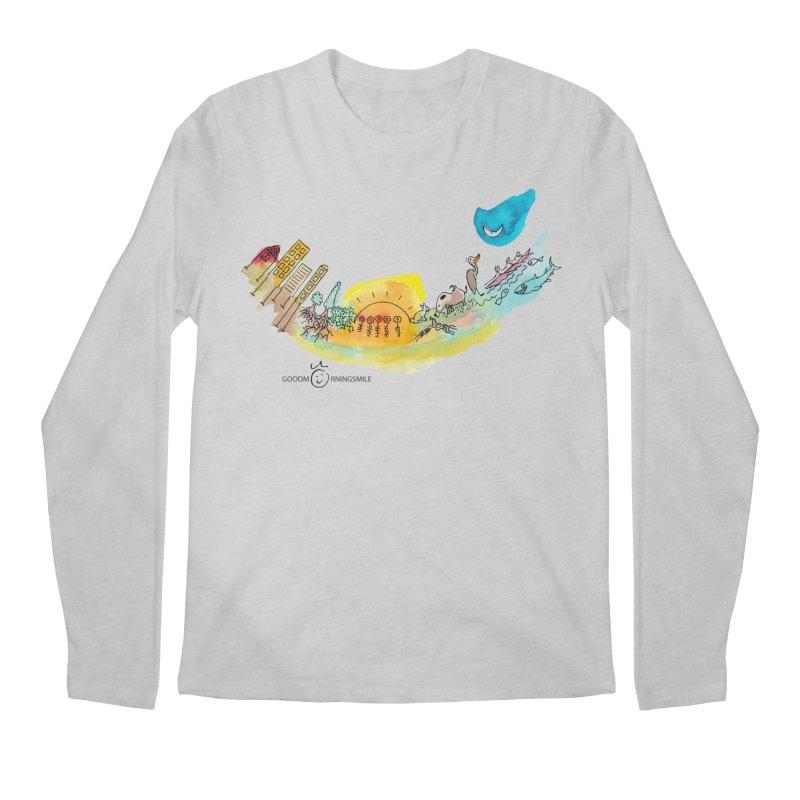 Urban Ecology Smile Men's Longsleeve T-Shirt by Good Morning Smile