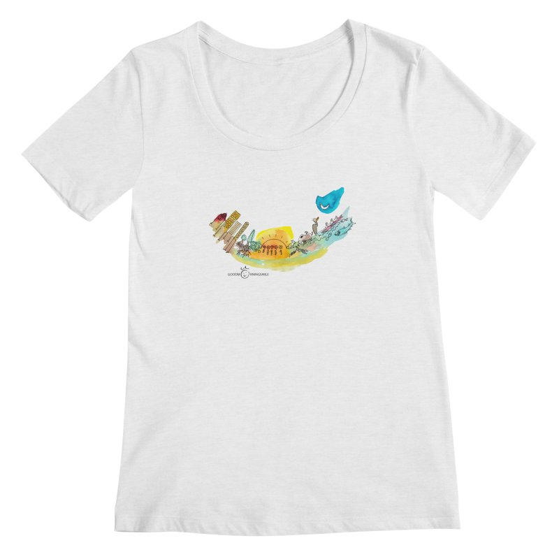 Urban Ecology Smile Women's Scoop Neck by Good Morning Smile