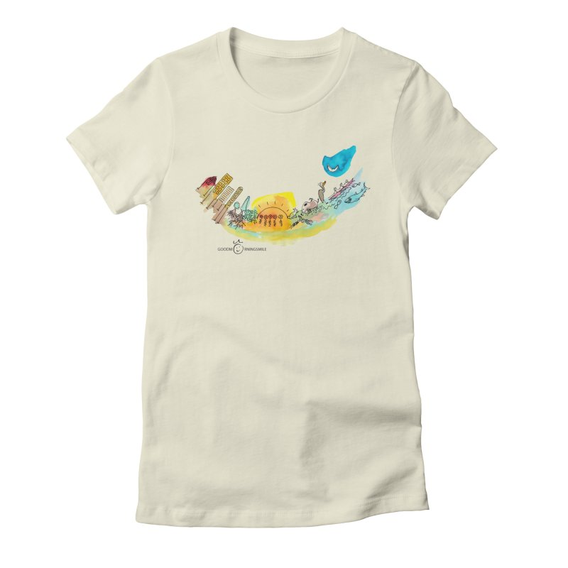 Urban Ecology Smile Women's Fitted T-Shirt by Good Morning Smile