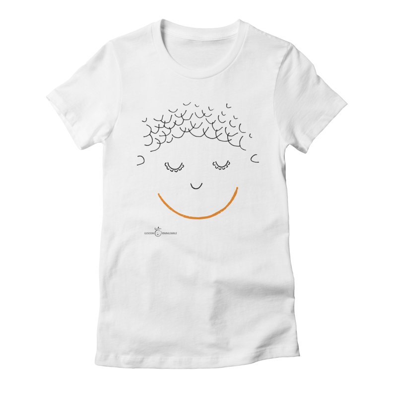 Smiling Smile Women's Fitted T-Shirt by Good Morning Smile