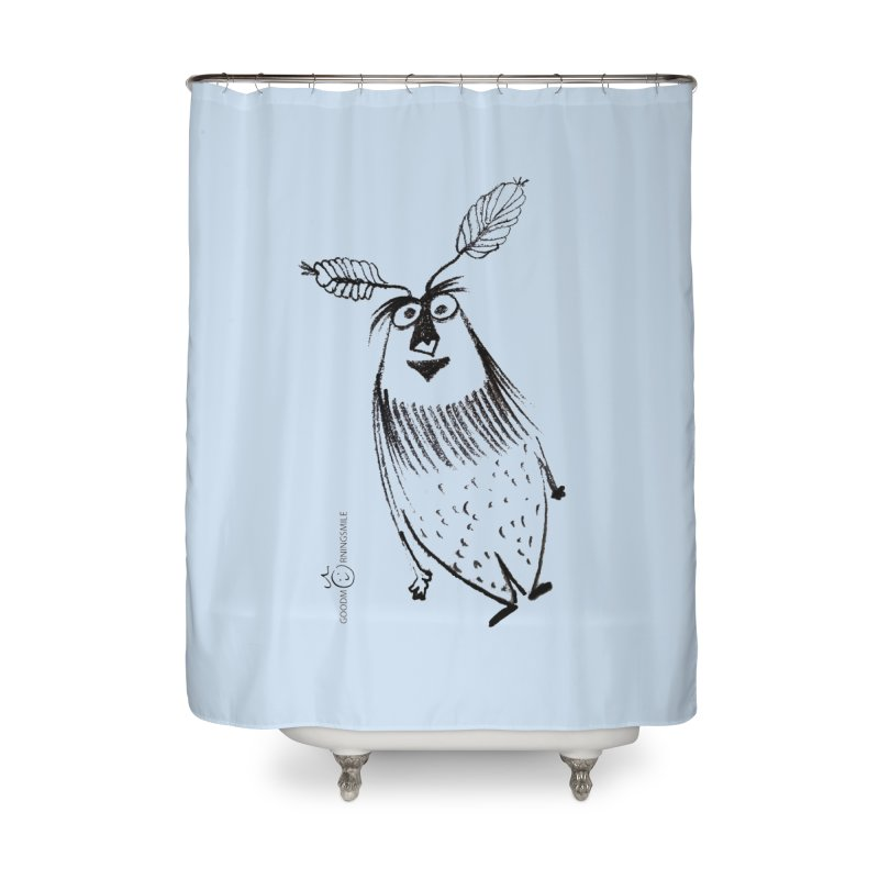 Flying FeatherMan Home Shower Curtain by Good Morning Smile