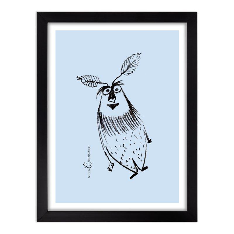 Flying FeatherMan Home Framed Fine Art Print by Good Morning Smile