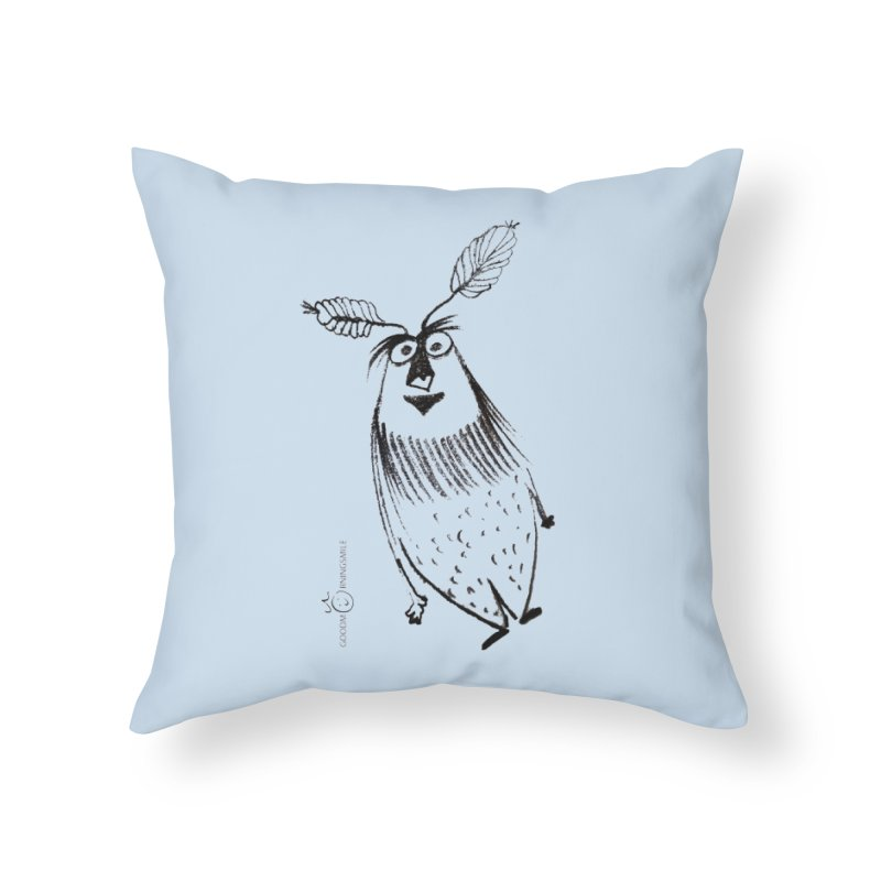 Flying FeatherMan Home Throw Pillow by Good Morning Smile