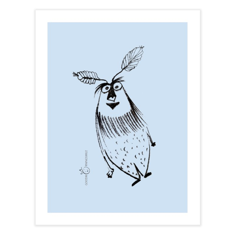 Flying FeatherMan Home Fine Art Print by Good Morning Smile