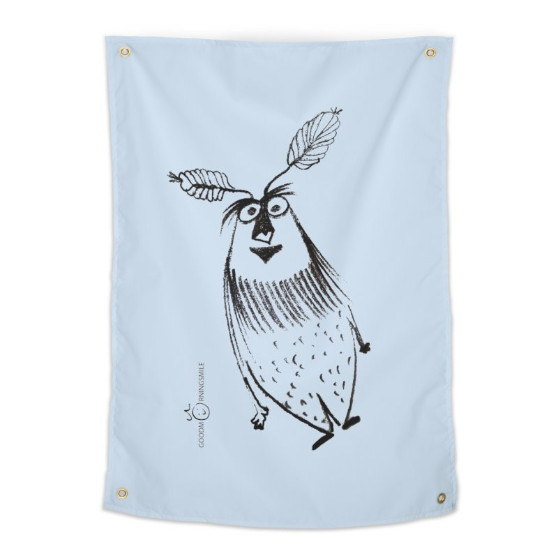 Flying FeatherMan Home Tapestry by Good Morning Smile