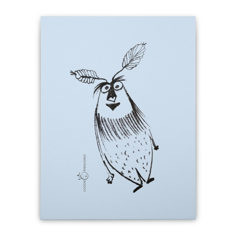 Flying FeatherMan Home Stretched Canvas by Good Morning Smile