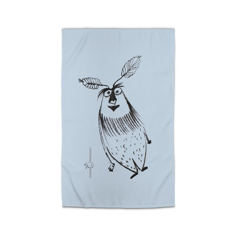 Flying FeatherMan Home Rug by Good Morning Smile