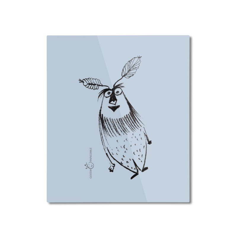 Flying FeatherMan Home Mounted Aluminum Print by Good Morning Smile
