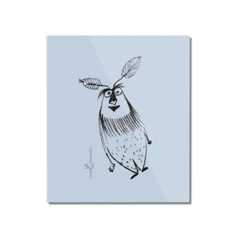Flying FeatherMan Home Mounted Acrylic Print by Good Morning Smile
