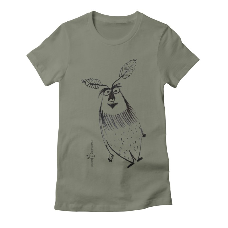 Flying FeatherMan Women's Fitted T-Shirt by Good Morning Smile