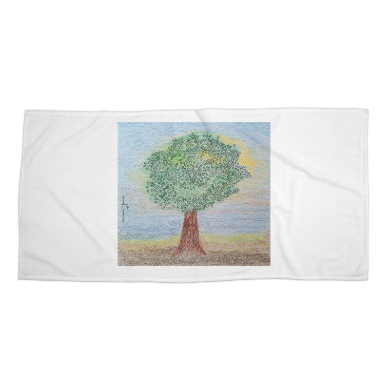 Tree Smile Accessories Beach Towel by Good Morning Smile