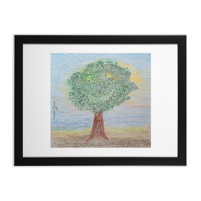 Tree Smile Home Framed Fine Art Print by Good Morning Smile