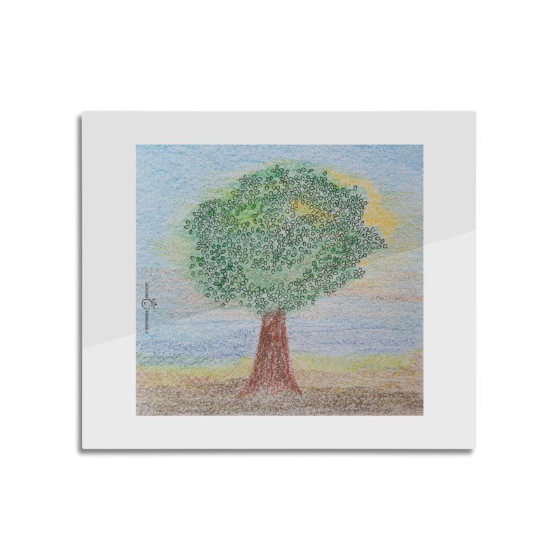 Tree Smile Home Mounted Aluminum Print by Good Morning Smile