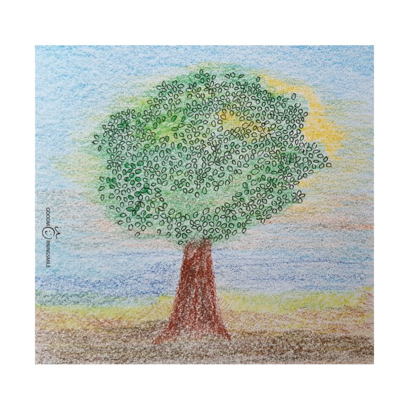 Tree Smile Home Fine Art Print by Good Morning Smile