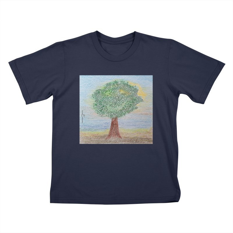Tree Smile Kids T-Shirt by Good Morning Smile