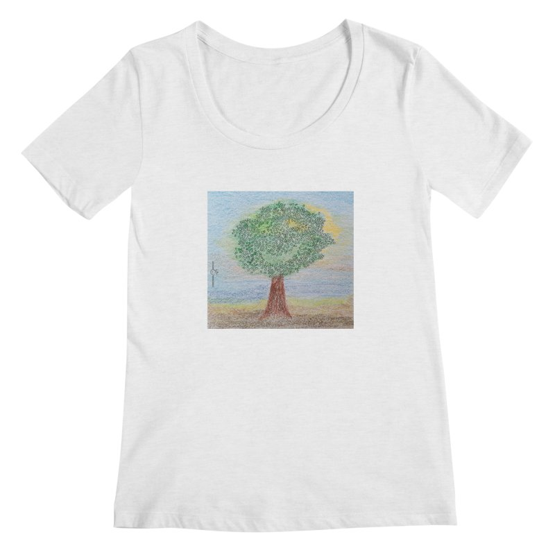Tree Smile Women's Scoop Neck by Good Morning Smile