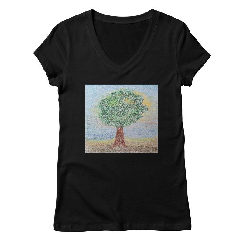 Tree Smile Women's V-Neck by Good Morning Smile