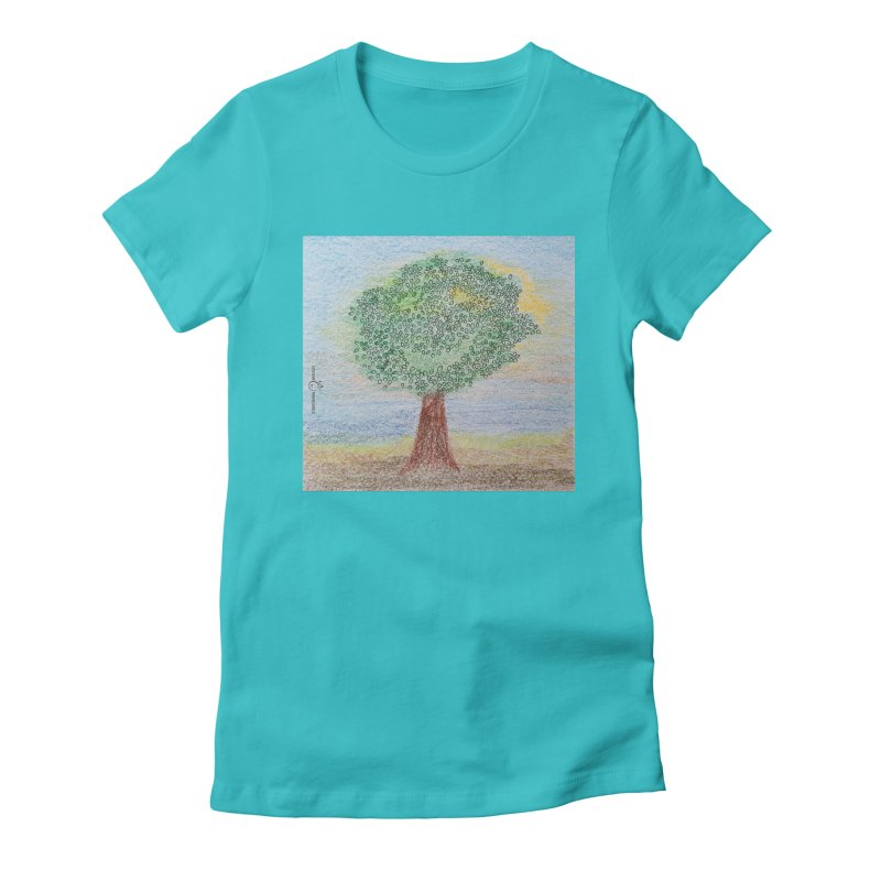 Tree Smile Women's Fitted T-Shirt by Good Morning Smile