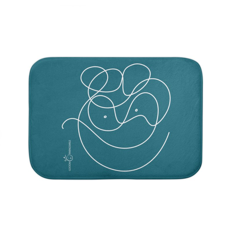 OneLine Smile (white) Home Bath Mat by Good Morning Smile