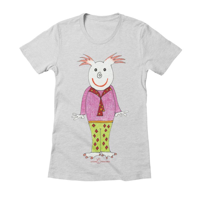 Pleased Smile Women's Fitted T-Shirt by Good Morning Smile