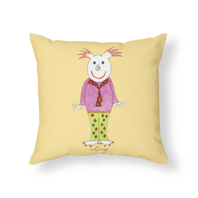 Pleased Smile Home Throw Pillow by Good Morning Smile