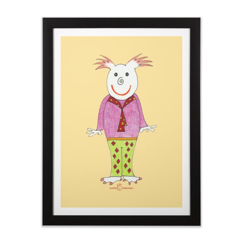 Pleased Smile Home Framed Fine Art Print by Good Morning Smile
