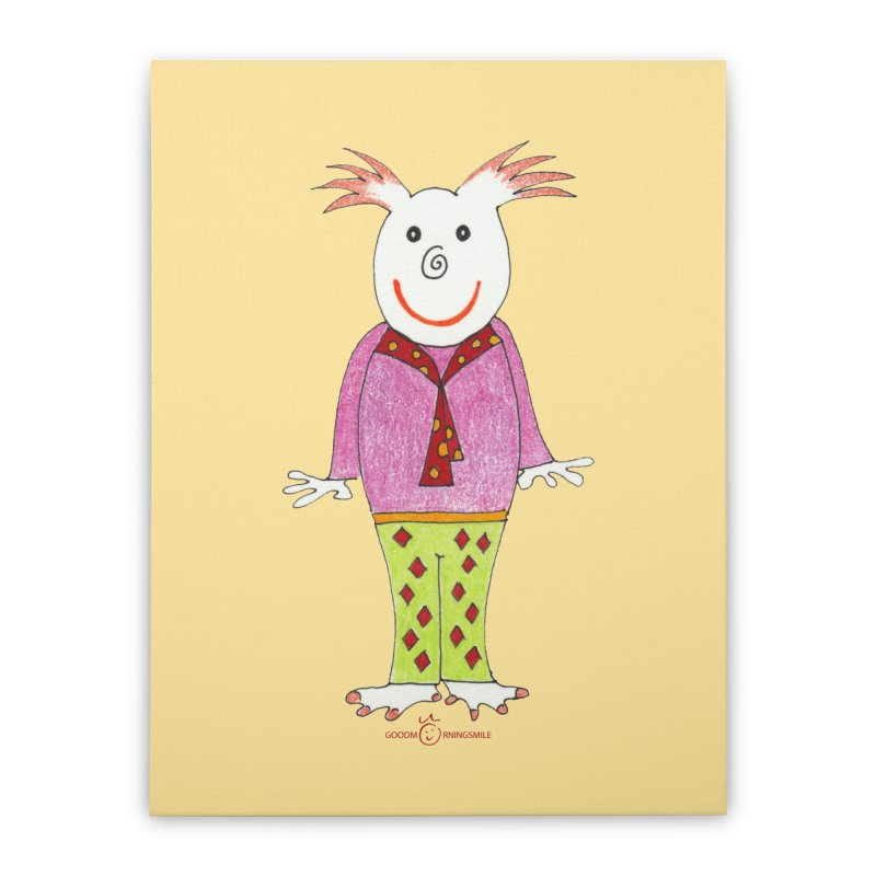 Pleased Smile Home Stretched Canvas by Good Morning Smile