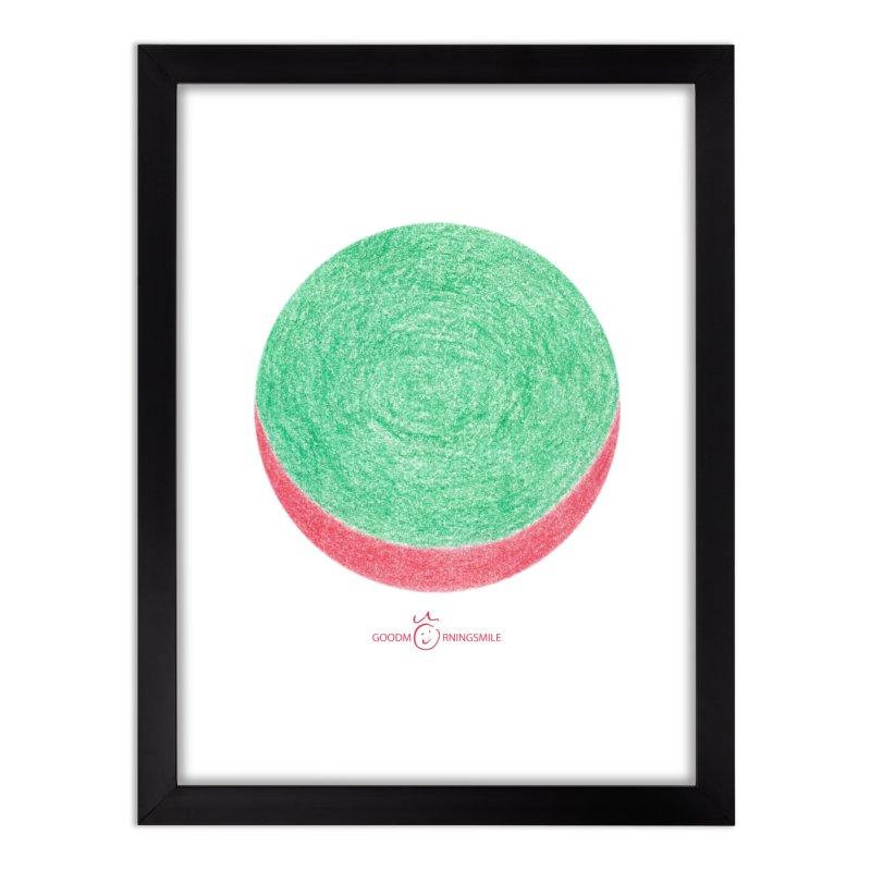 Watermelon Smile Home Framed Fine Art Print by Good Morning Smile