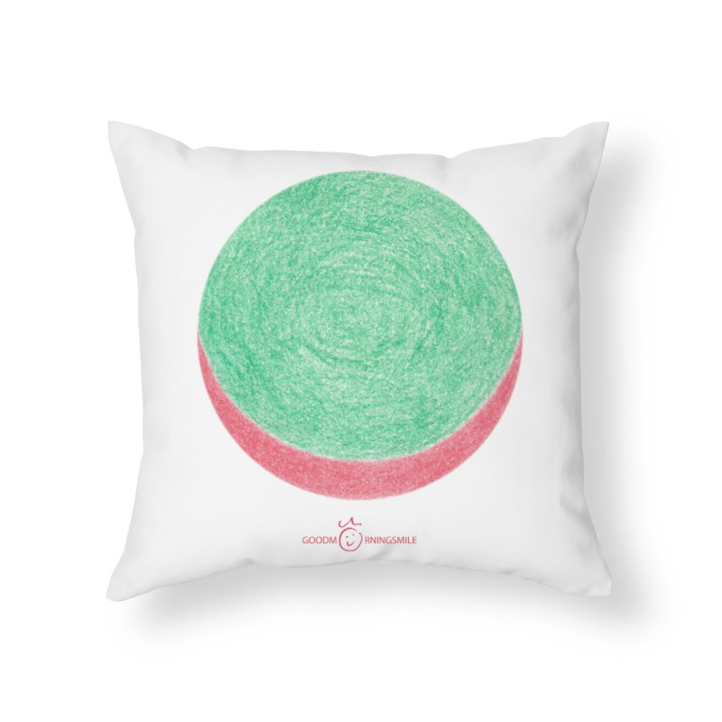 Watermelon Smile Home Throw Pillow by Good Morning Smile