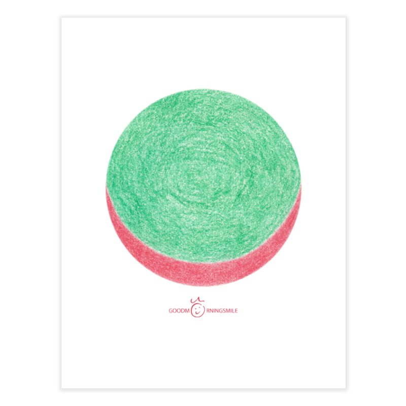 Watermelon Smile Home Fine Art Print by Good Morning Smile