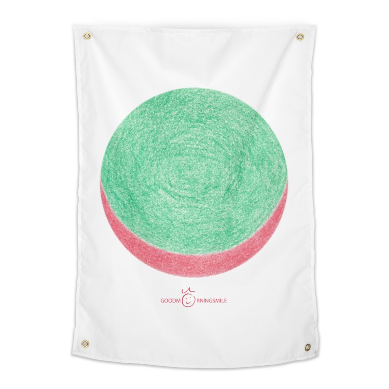 Watermelon Smile Home Tapestry by Good Morning Smile