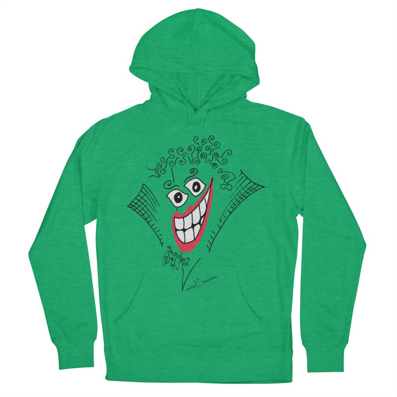 Sly smile Women's French Terry Pullover Hoody by Good Morning Smile