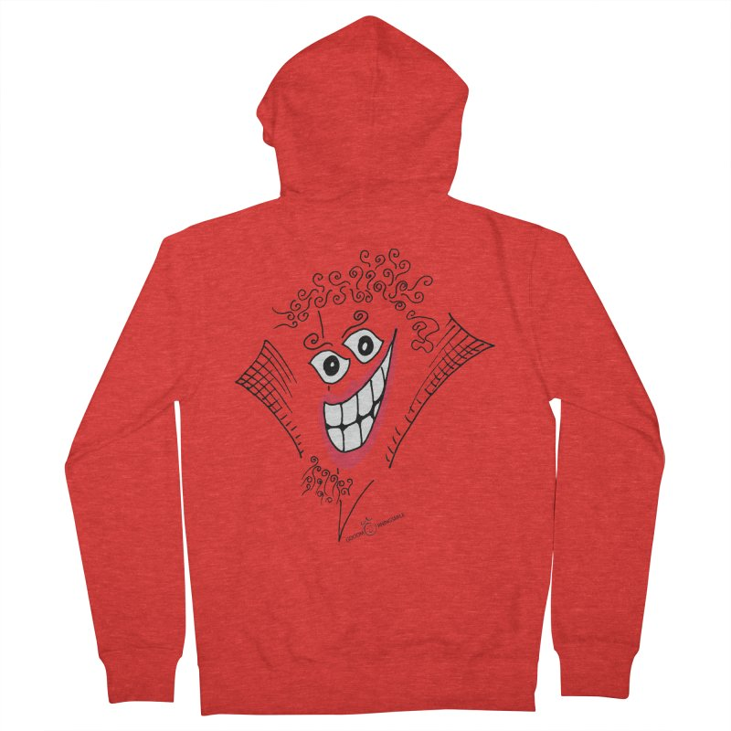 Sly smile Men's Zip-Up Hoody by Good Morning Smile