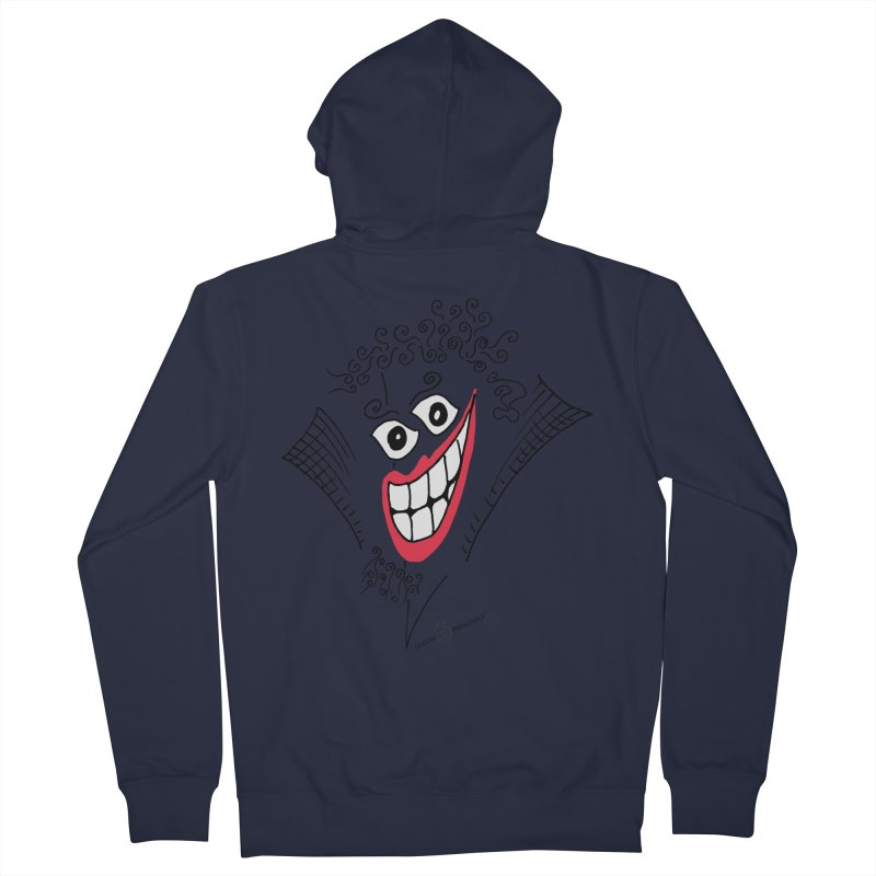 Sly smile Men's French Terry Zip-Up Hoody by Good Morning Smile