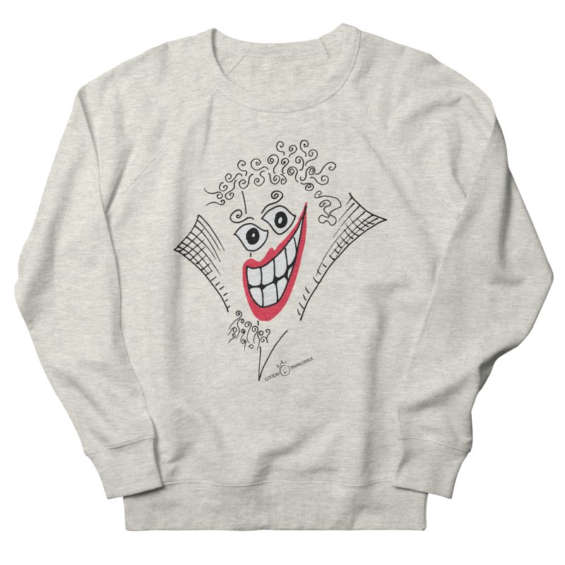 Sly smile Men's French Terry Sweatshirt by Good Morning Smile