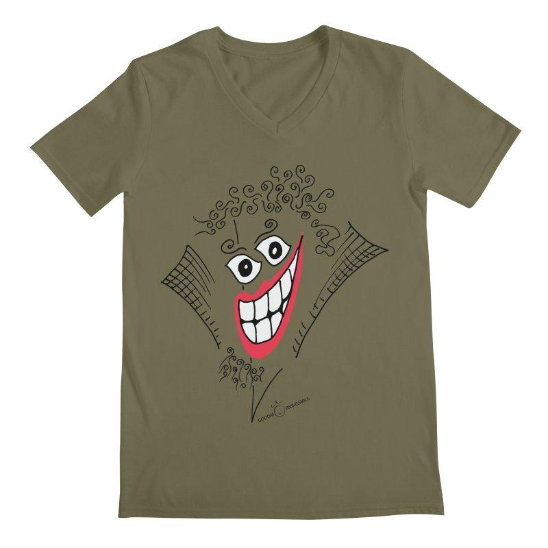 Sly smile Men's Regular V-Neck by Good Morning Smile
