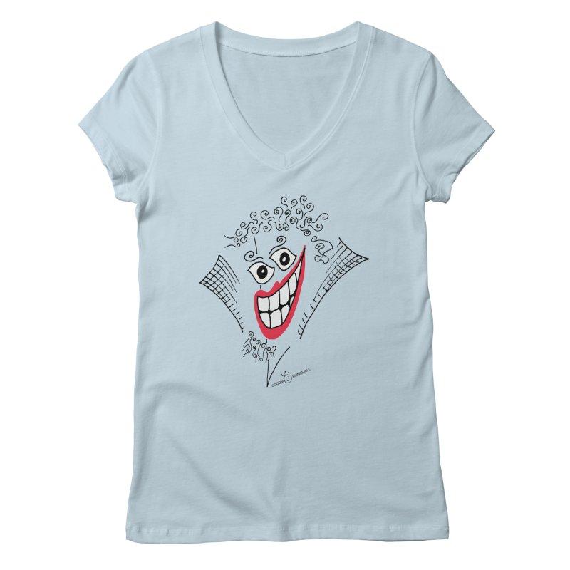 Sly smile Women's V-Neck by Good Morning Smile