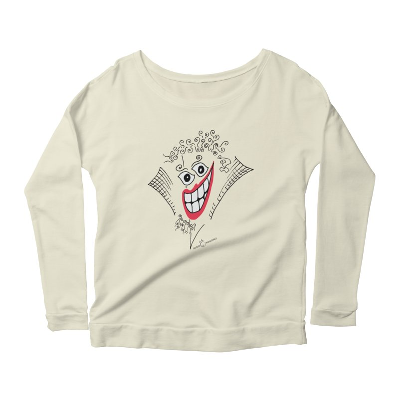Sly smile Women's Scoop Neck Longsleeve T-Shirt by Good Morning Smile