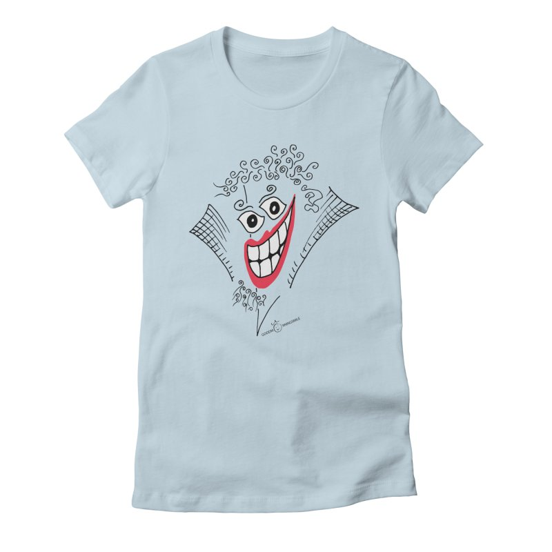 Sly smile Women's Fitted T-Shirt by Good Morning Smile